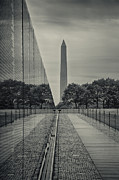 Vietnam Veterans Memorial Photos - A View of the Washington Monument from the Vietnam Veterans Memorial by Martin Belan