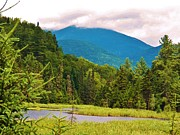 Landscape With Mountains Framed Prints - A View of Whiteface Mountain Framed Print by Judy Via-Wolff