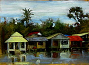 Southeast Asia Paintings - A View to Myanmar by Michael Britton