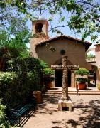 Courtyards Photos - A Village Chapel by Mel Steinhauer