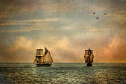 Wooden Ship Prints - A Vision I Dream Print by Dale Kincaid