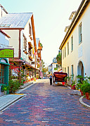Horse And Buggy Photo Posters - A Walk in St Augustine Poster by Michelle Wiarda