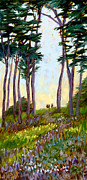 Tall Trees Paintings - A Walk in the Park by Alice Leggett