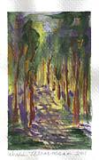 A Walk In The Park Print by Debbie Wassmann