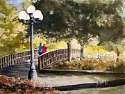 Zoo Painting Prints - A Walk In The Park Print by Sam Sidders