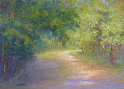 Pathway Pastels - A Walk In The Woods by Christine Bass