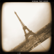 Toy Camera Digital Art Framed Prints - A Walk Through Paris 11 Framed Print by Mike McGlothlen