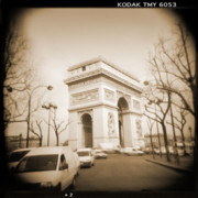 Toy Camera Digital Art Framed Prints - A Walk Through Paris 2 Framed Print by Mike McGlothlen