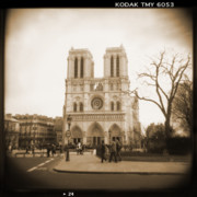 Toy Camera Digital Art Framed Prints - A Walk Through Paris 24 Framed Print by Mike McGlothlen