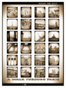 Toy Camera Digital Art Framed Prints - A Walk Through Paris Framed Print by Mike McGlothlen