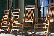 Rocking Chairs Framed Prints - A Warm Beauvoir Welcome Framed Print by Carol Groenen