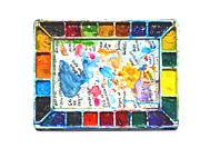 Ion Vincent Danu Art - A Watercolorist Palette by Ion vincent DAnu