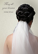 Coiffure Prints - A Wedding Day Message Print by Terri  Waters