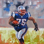 Football Paintings - A Well Conditioned Athlete by Laura Lee Zanghetti