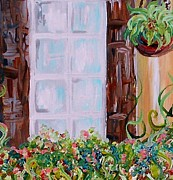 Puerto Rico Painting Metal Prints - A Window View Metal Print by Eloise Schneider