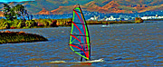 Wind Surfing Art Art - a WindSurfers Gr8 Ride by Joseph Coulombe