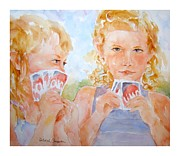 Playing Cards Painting Framed Prints - A Winning Hand Framed Print by Deborah Carman