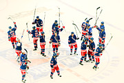 Ny Rangers Framed Prints - A Winning Salute Framed Print by Karol  Livote