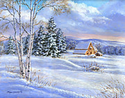 Richard De Wolfe Prints - A Winter Afternoon Print by Richard De Wolfe