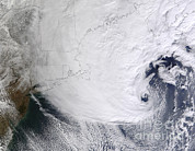 Snowstorm Photos - A Winter Storm Over Eastern New England by Stocktrek Images