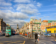 Winter Travel Photo Posters - A Winter Stroll in Dublin Ireland Poster by Mark E Tisdale