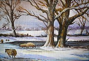 Rural Snow Scenes Originals - A Winters Morning by Andrew Read