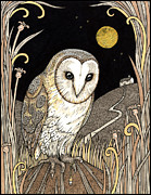 Crystal Drawings Prints - A Wise One Waits Print by Anita Inverarity