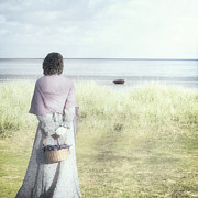 Reed Photos - A Woman And The Sea by Joana Kruse