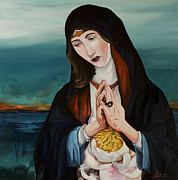 Prayer Painting Originals - A Woman in Prayer by Joseph Demaree