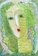 Featured Drawings - A Woman in Spring Colors by Alexander Terziev