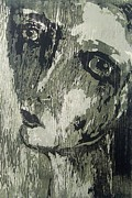 Printmaking Paintings - A Woman Portrait by Nesli Sisli