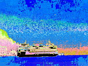 Nautical Digital Art - A Wonderful Day On The Sound by Tim Allen