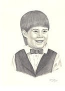 Young Man Drawings Prints - A Young Boy Print by Patricia Hiltz