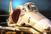 Jet Poster Digital Art - A4 SkyHawk Fighter Jet by Thomas Woolworth
