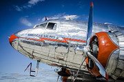 Dc-3 Plane Framed Prints - AA DC3 flagship Detroit Framed Print by Bradley Clay