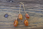 Featured Jewelry - AAA Baltic Amber Nuggets Dangle Earrings by Marina Larimar