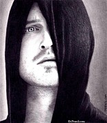 Aaron Prints - Aaron Paul Print by Rick Fortson
