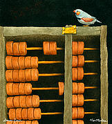 Small Paintings - Abacus Finch... by Will Bullas