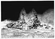 Philippines Drawings - Abandon Ship by Bruce Kay