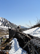 Alaskan Railroad Prints Photos - Abandoned Alaskan Gold Mine Track III by Danise Abbott