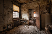 Decaying Prints - Abandoned Asylum - Haunting Images - What once was Print by Gary Heller