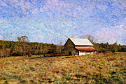 Autumn Landscape Mixed Media - Abandoned Barn in North Georgia by Vizual Studio