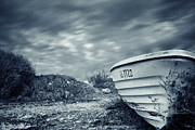 Wooden Ship Prints - Abandoned Boat Print by Stylianos Kleanthous