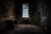 Hdr Framed Prints - Abandoned Building - Old Room - Room with a desk Framed Print by Gary Heller