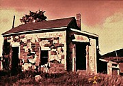 Weathered Houses Posters - Abandoned Cape Breton House Poster by John Malone