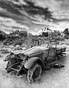 Joshua Tree National Park Framed Prints - Abandoned Car Framed Print by Alexis Birkill