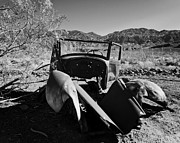 Panamint Valley Posters - Abandoned Car Ballarat CA Poster by Troy Montemayor