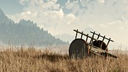 Cart Digital Art - Abandoned Cart by Daniel Eskridge