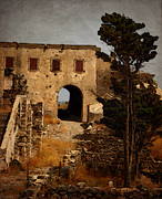 Castle Pyrography Metal Prints - Abandoned Castle Metal Print by Christo Christov
