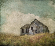 Prairie Landscape Framed Prints - Abandoned Framed Print by Juli Scalzi